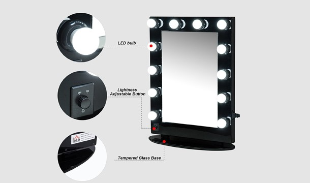 Homcom Vanity Mirror With Led Lights Save Up To 36 Pigsbackcom