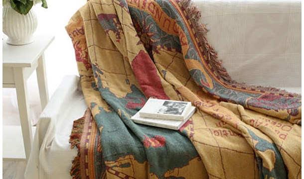 Old world map blanket ideal throw sofa cover save up to 49 extra discount for a limited time gumiabroncs Image collections
