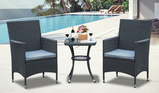 End Of Season Sale 3 Piece Rattan Furniture Bistro Set Save Up To 45 Escapes Ie
