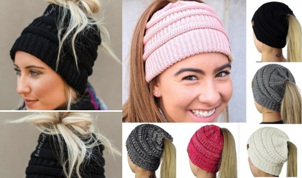 A Women s Ponytail Beanie - Save up to 73%  1f141679141