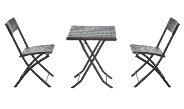 3 piece foldaway rattan garden furniture set save up to 46 dealrushie