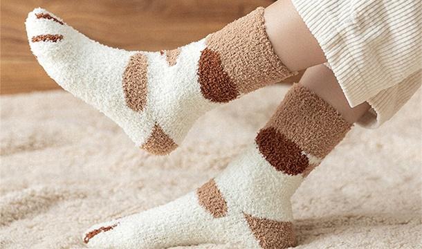 Women's Fluffy Cat Paw Socks - Pigsback.com