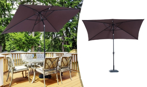 Outsunny Rectangular Patio Parasol With