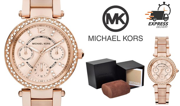 499e6ccea7f1 €139.99 for a Michael Kors MK6110 Mini Parker Rose Gold Watch - 3 Day  Delivery