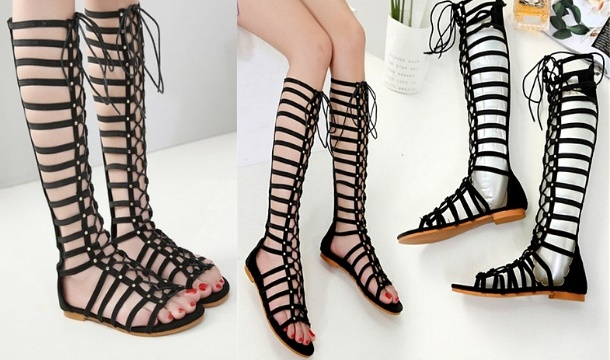 ecc541b107b ... My Blu Fish €32.99 for a Pair of Women s Flat Lace Up Gladiator Sandals  in 2 Colours ...