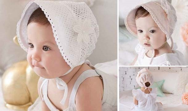 ...  https   images.pigsback.com images megadeal my-fashion-fix baby bonnet 01.jpg  My Fashion Fix Princess Breathable Cotton Baby Bonnet Sun Hat - Great for  ... a4b5f49f087