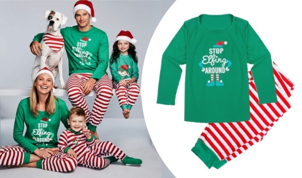 f5cf1fe56b9a Matching Family Christmas Pyjamas in a Variety of Sizes - Save up to 82%