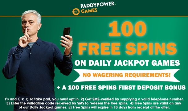 PaddyPower New Customer Offer: Get 100 FREE Spins on Daily Jackpot Games