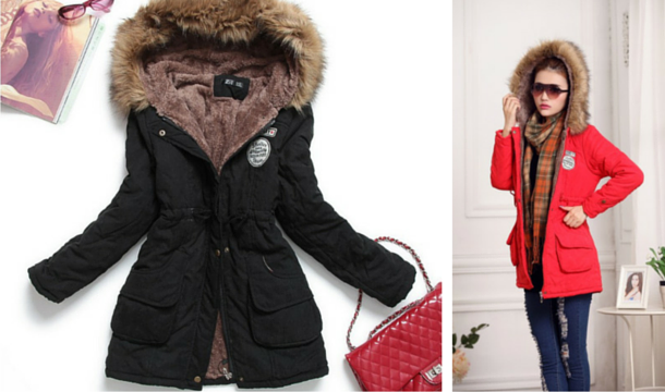 PRICE DROP: Ladies Fur Lined Parka Coat - Save up to 71 ...