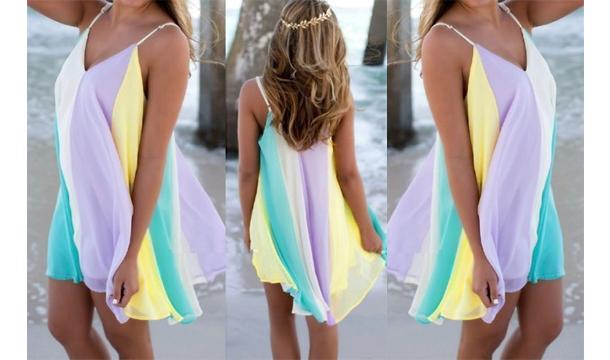 0371227448 http://www.pigsback.com/en-ie/offer/334919  https://images.pigsback.com/images/megadeal/rainbow-beach-dress-01.jpg  Anarchy Fashion Rainbow Beach Dress ...
