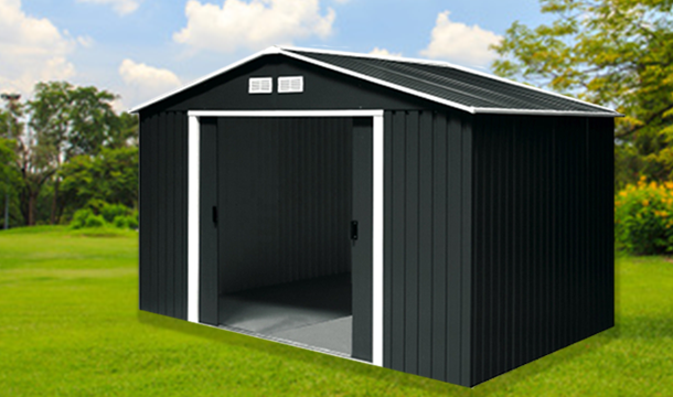 Garden Sheds Kilkenny plantiflex™ metal garden sheds in 2 sizes - save up to 45