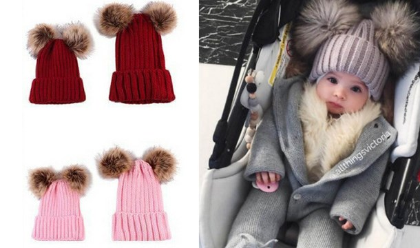 ...  https   images.pigsback.com images megadeal ty-direct mum baby hat image 01.jpg  TY Direct €9.99 for a Mum and Baby Pom Pom Hat Set 9.99 EUR InStock 8efb6c35157