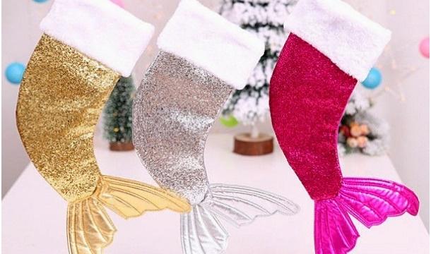 Mermaid Christmas Stocking.Ty Direct