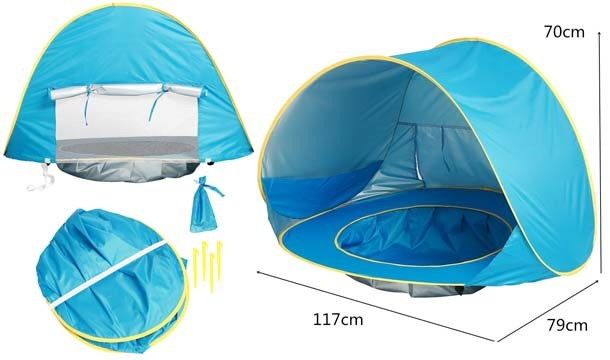 ... //images.pigsback.com/images/megadeal/viva-sales/kids_pop_up_tent_01.jpg Viva Sales u20ac19.99 for a UV Protected Pop Up Beach/Garden Tent with Baby ...  sc 1 st  Pigsback.com & Anti-UV Pop Up Tent with Baby Pool: Suitable from 6 Months - Save up ...